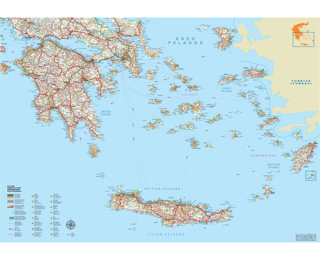 Maps Of Greece Collection Of Maps Of Greece Europe Mapsland Maps Of The World