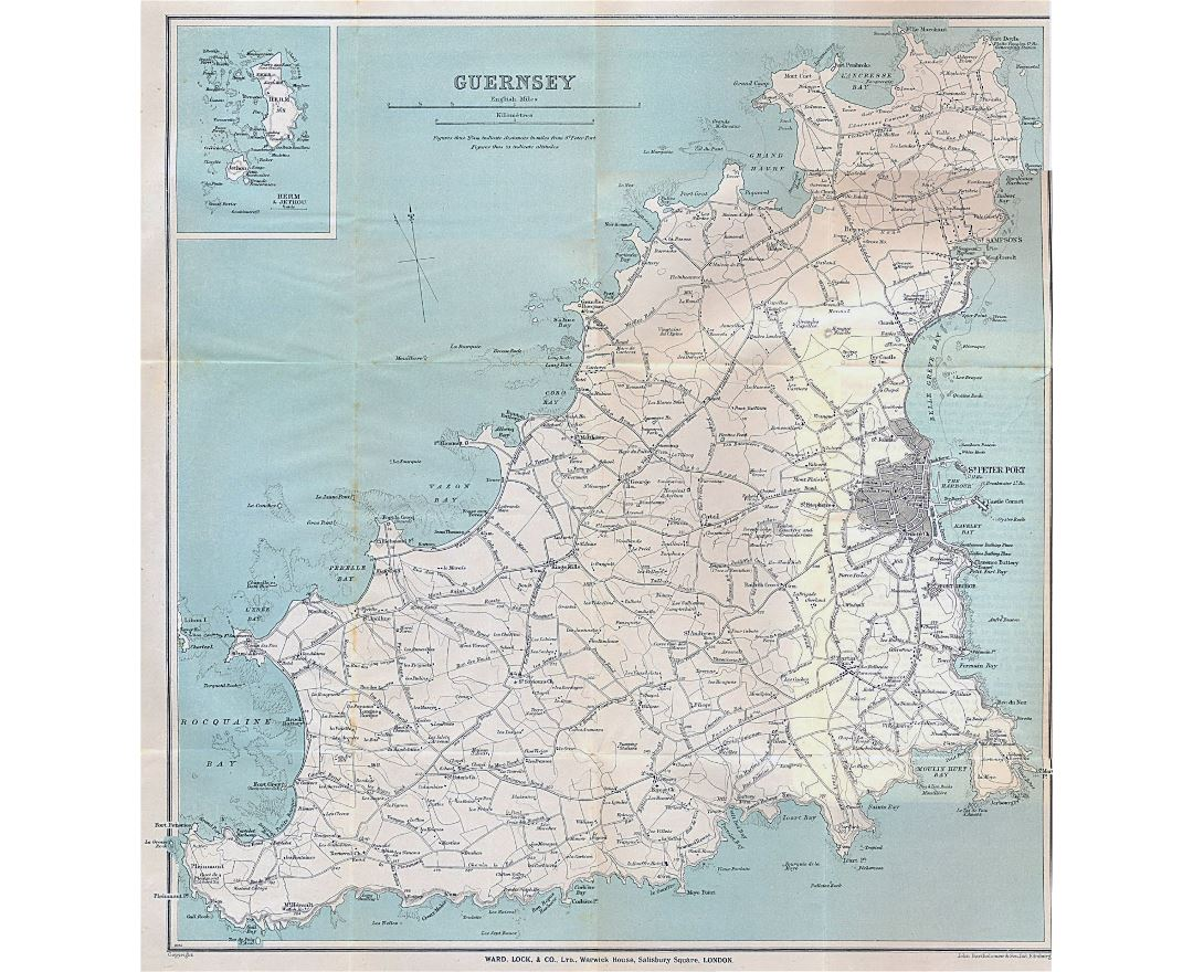 Guernsey England Map.Maps Of Guernsey Collection Of Maps Of Guernsey Europe