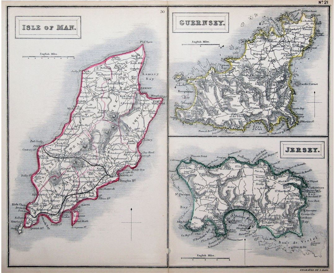 Maps of Guernsey Detailed map of Guernsey island in English