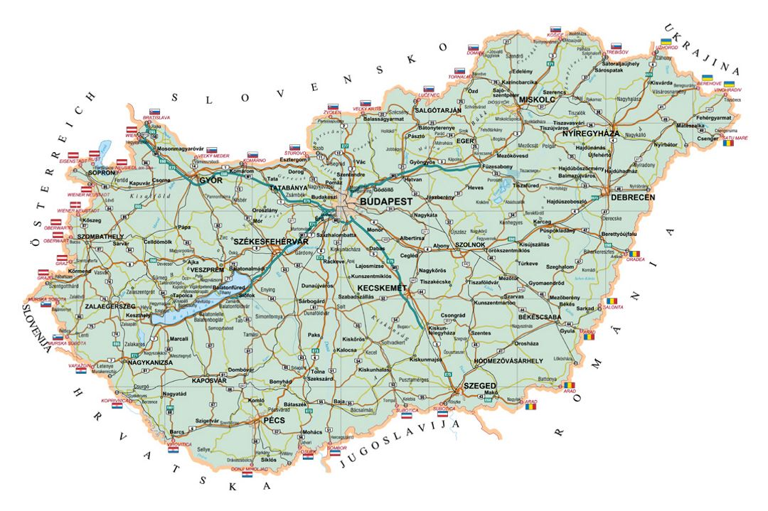 Picture of: Road Map Of Hungary Hungary Europe Mapsland Maps Of The World