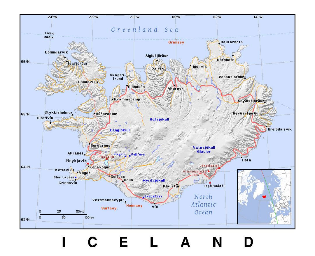 Maps of Iceland | Collection of maps of Iceland | Europe | Mapsland Images Physical Map Of Iceland on main cities in iceland, satellite map of iceland, large map of iceland, capital region iceland, temperature map of iceland, landform of iceland, famous people from iceland, blue lagoon iceland, vegetation map of iceland, printed map of iceland, detailed map of iceland, capital of iceland, a map of industries in iceland, population density of iceland, topographical map of iceland, time zone of iceland, political map of iceland, topographic map of iceland, map of hotels in iceland, physical features of iceland,