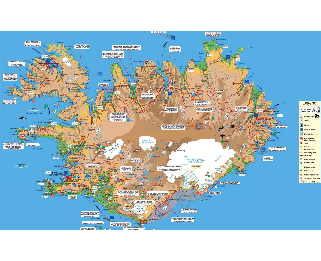 Maps of Iceland | Detailed map of Iceland in English | Tourist map ...