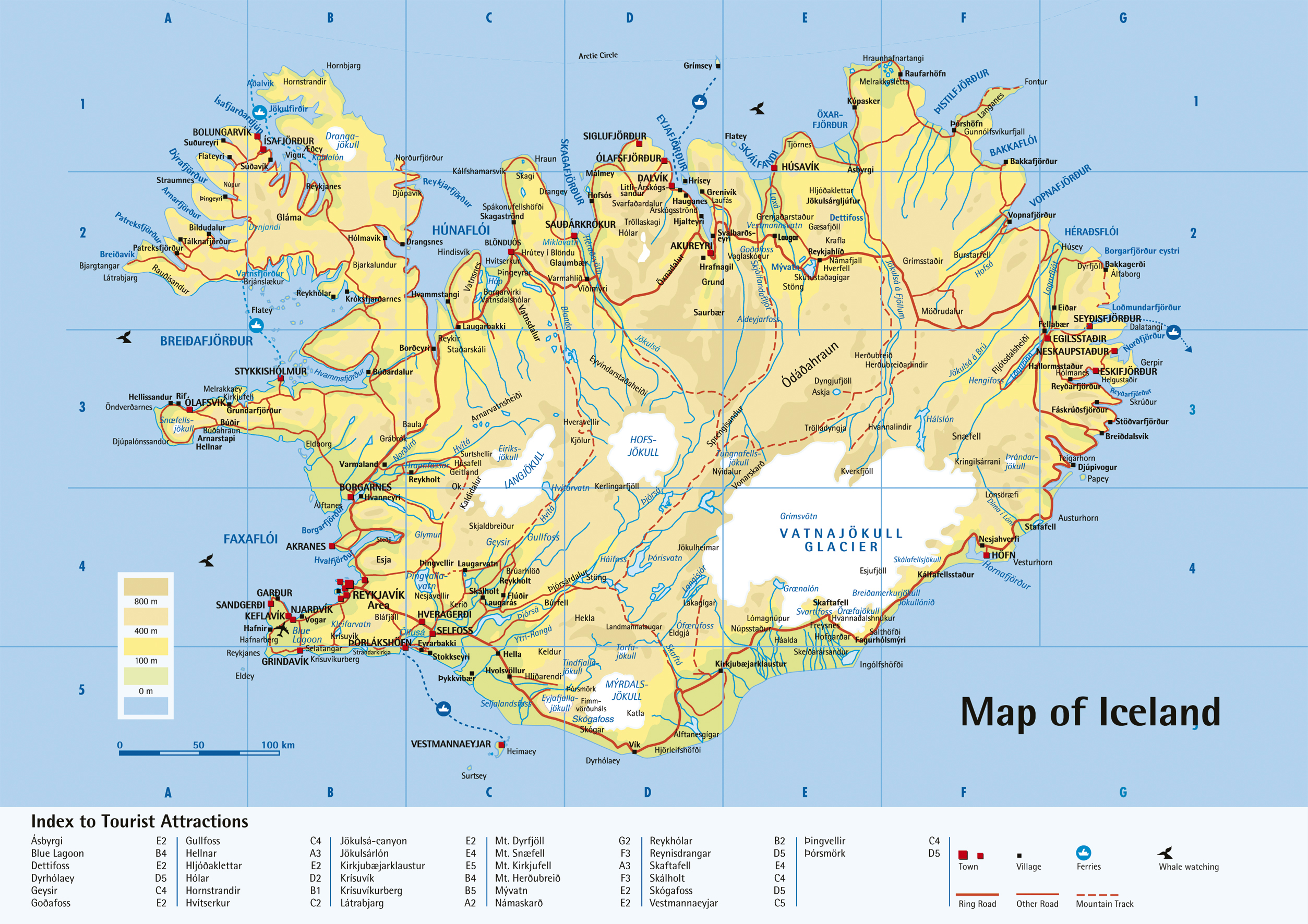 Large detailed physical map of iceland with roads cities and large detailed physical map of iceland with roads cities and tourist attractions gumiabroncs Gallery