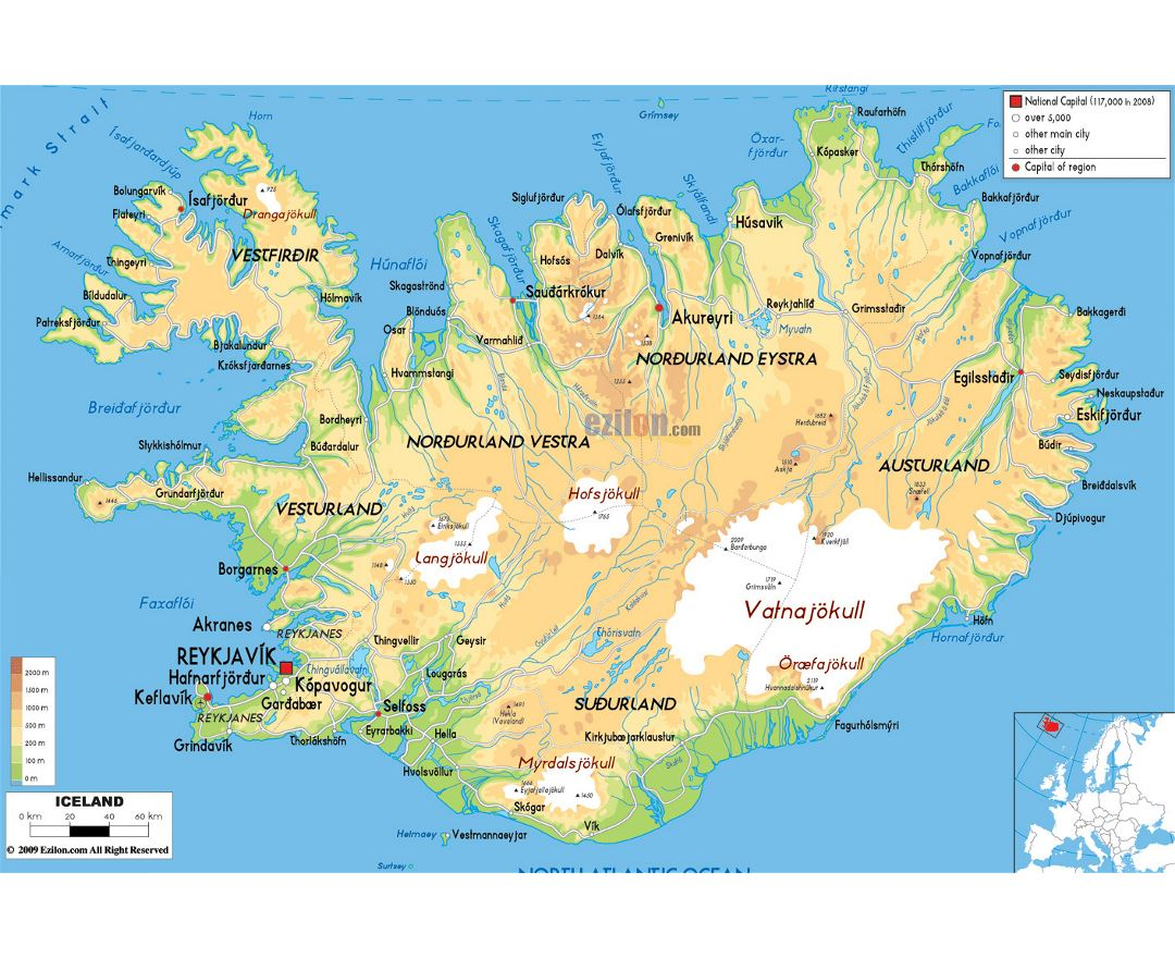 Maps Of Iceland Detailed Map Of Iceland In English Tourist Map - Iceland map world