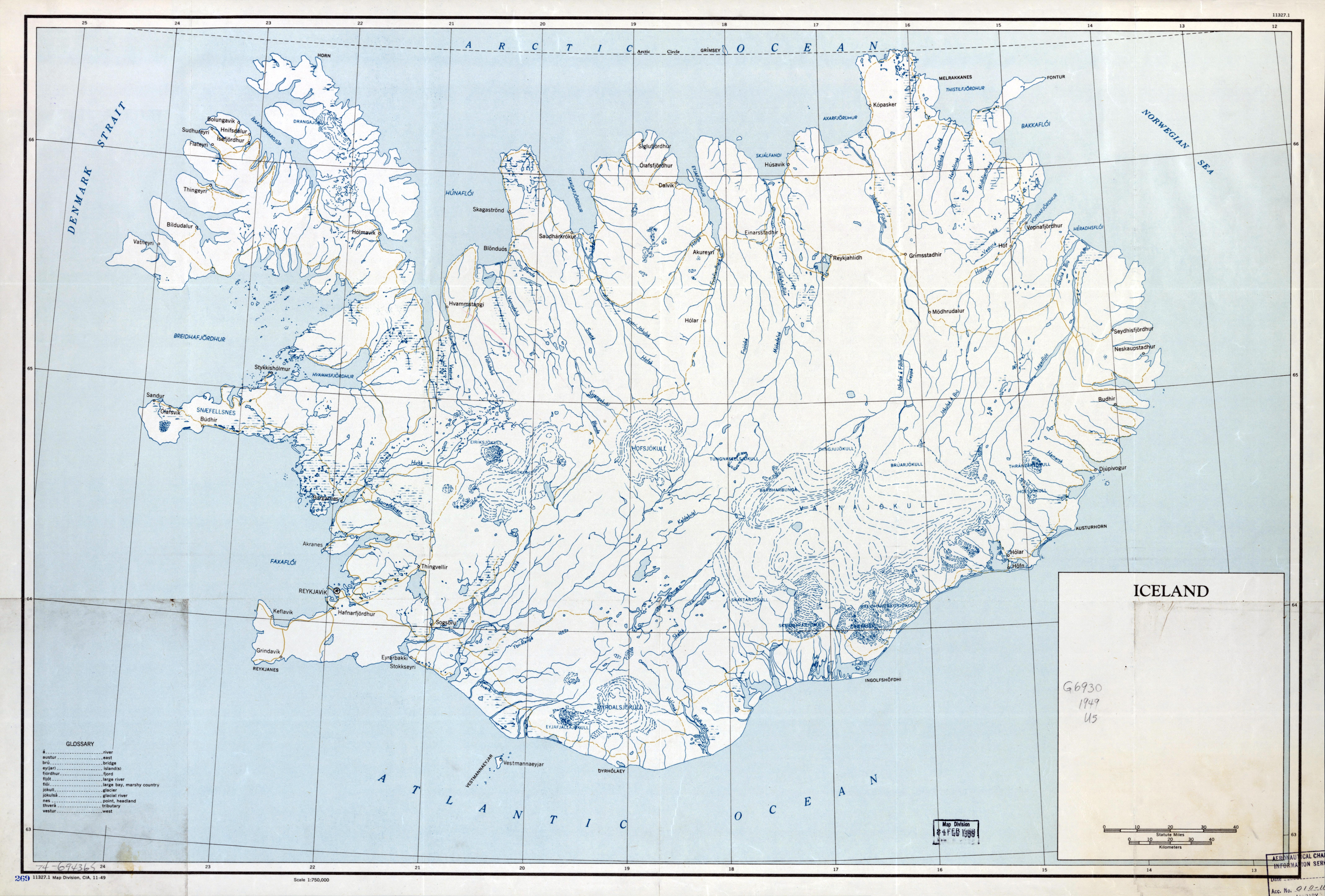 Large scale old map of iceland 1949 iceland europe large scale old map of iceland 1949 gumiabroncs Images