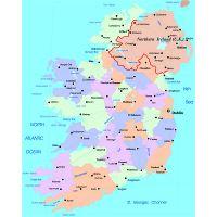 Map Of Ireland Highways.Large Administrative Map Of Ireland With Highways And Major Cities