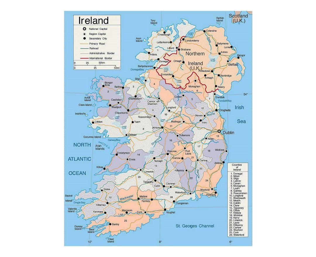Map Of Ireland Highways.Maps Of Ireland Collection Of Maps Of Ireland Europe Mapsland