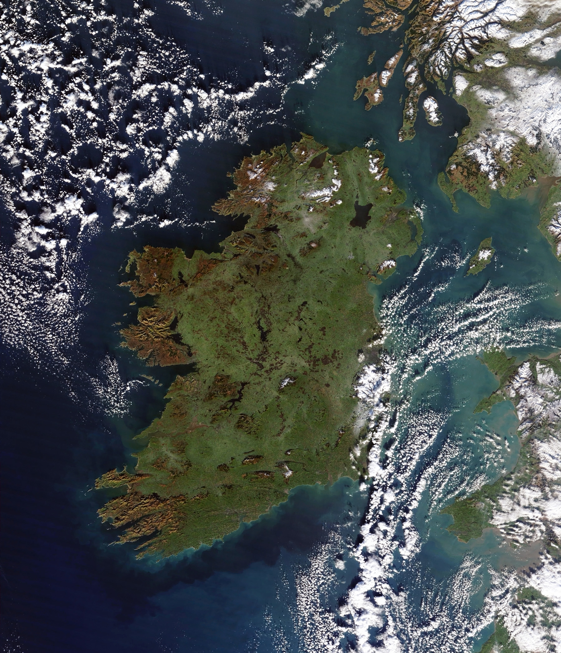 Satellite Map Of Ireland.Large Satellite Map Of Ireland Ireland Europe Mapsland Maps