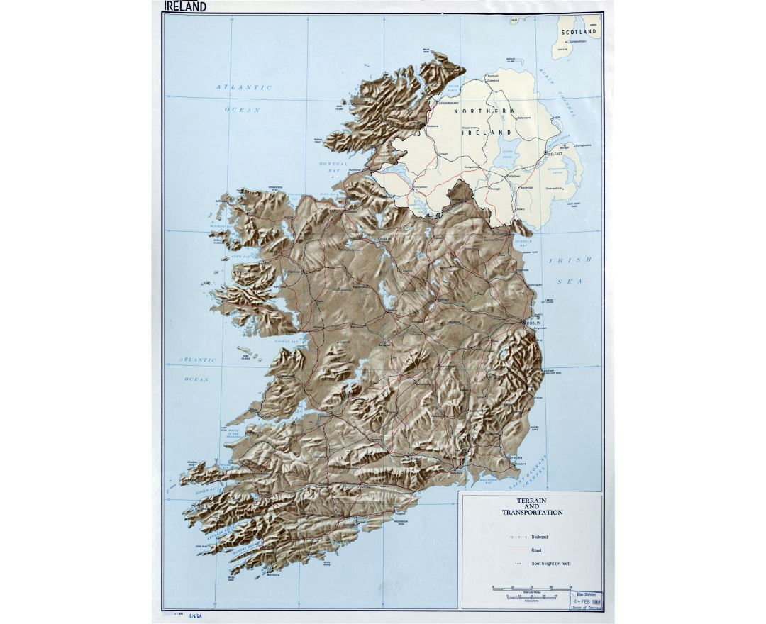 Road Map Of Ireland And Northern Ireland.Maps Of Ireland Collection Of Maps Of Ireland Europe Mapsland