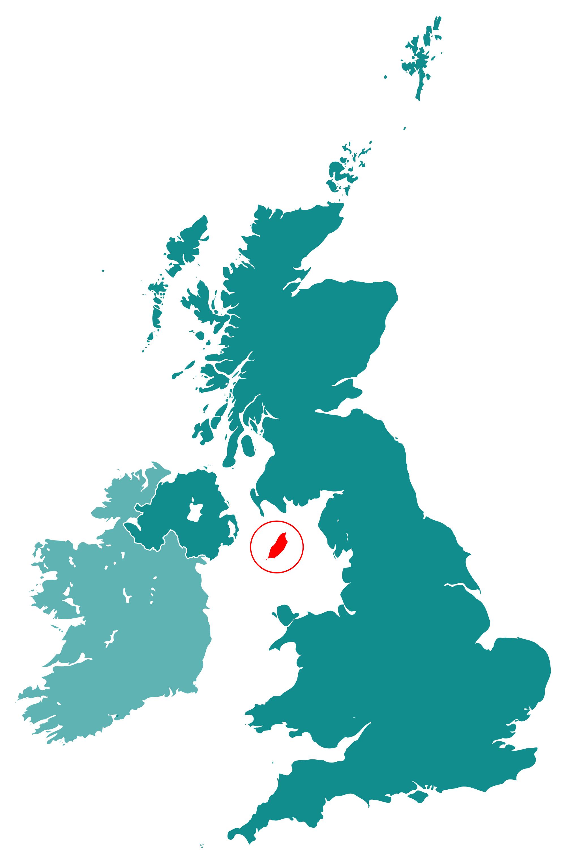 Large location map of Isle of Man Isle of Man Europe Mapsland