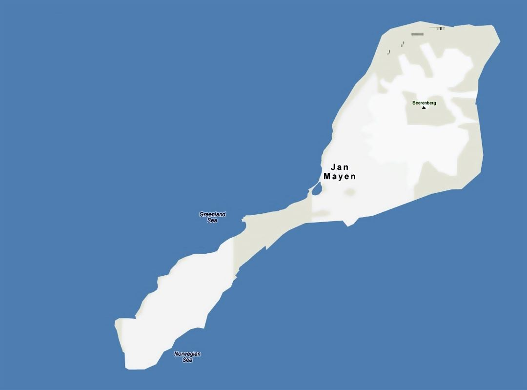 Large map of Jan Mayen island
