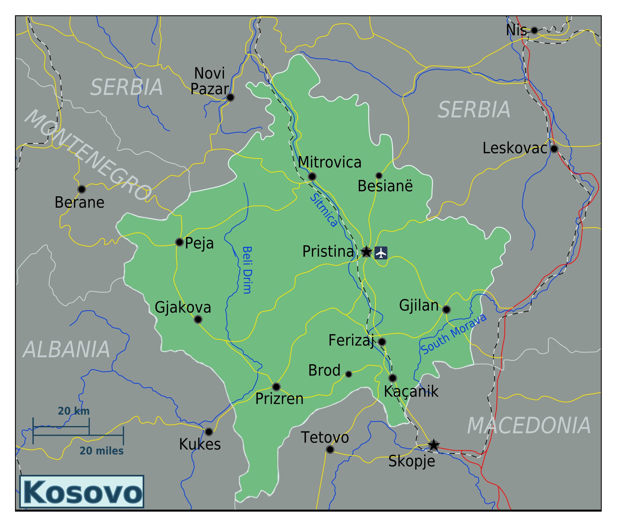 Large map of kosovo kosovo europe mapsland maps of the world large map of kosovo gumiabroncs Images