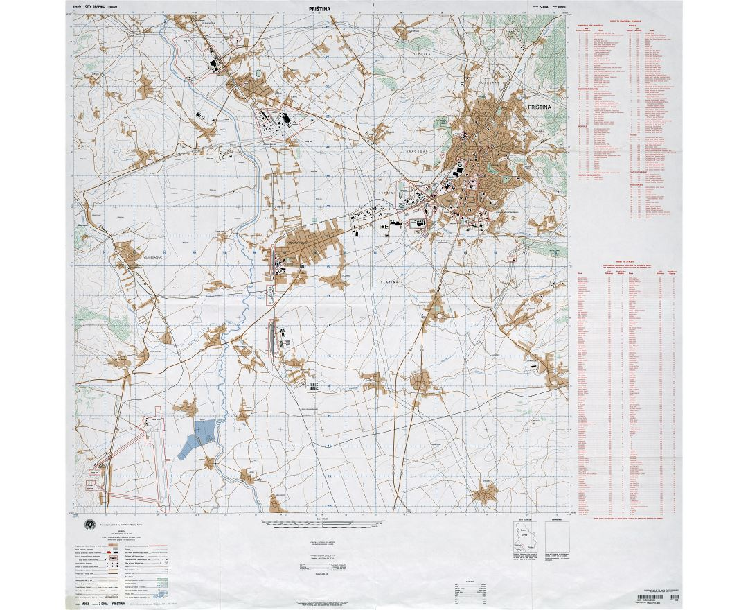 Maps Of Pristina Detailed Map Of Pristina In English Tourist - pristina map