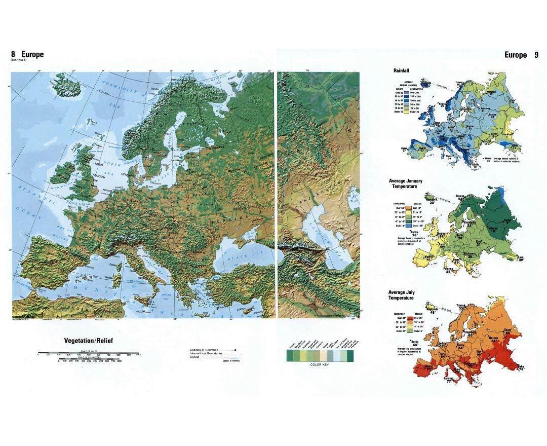 Maps of Europe and European countries | Collection of maps of Europe Definition Of Relief Map on