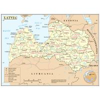 Administrative map of Latvia | Latvia | Europe | Mapsland | Maps of ...