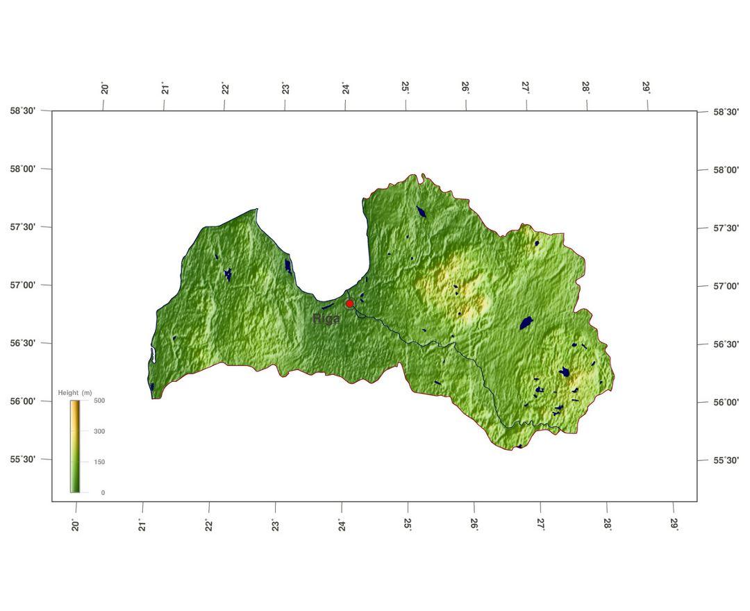 Maps of Latvia | Collection of maps of Latvia | Europe | Mapsland ...