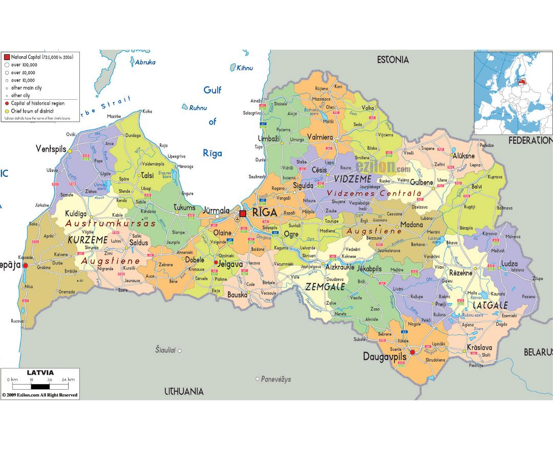 Maps of Latvia | Collection of maps of Latvia | Europe ...