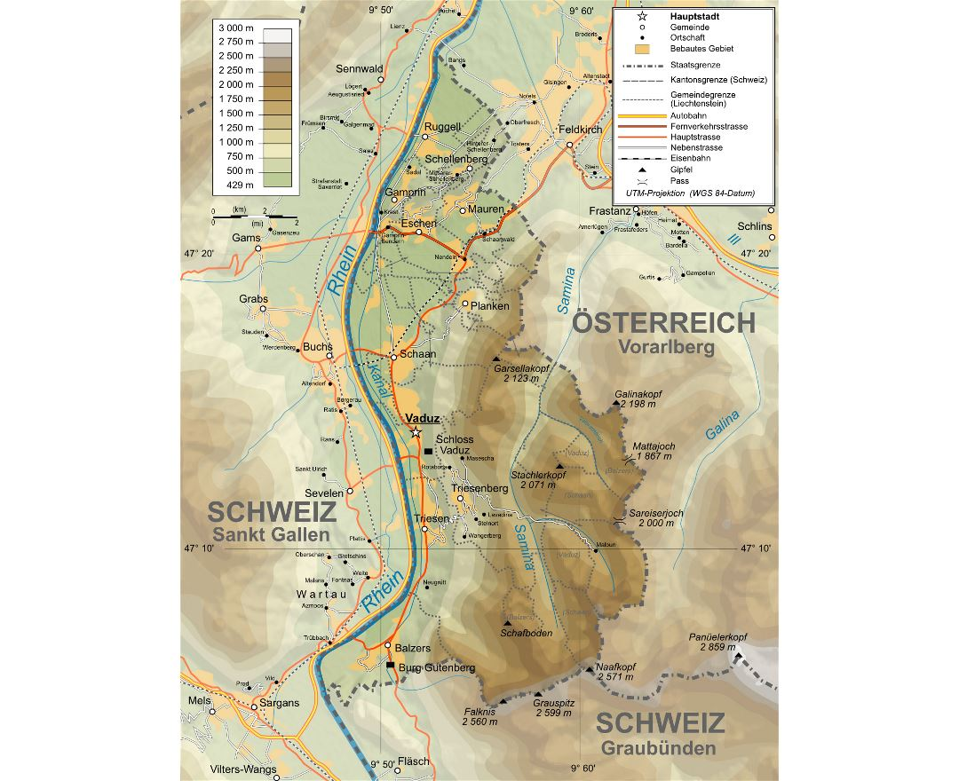Maps of Liechtenstein Detailed map of Liechtenstein in English