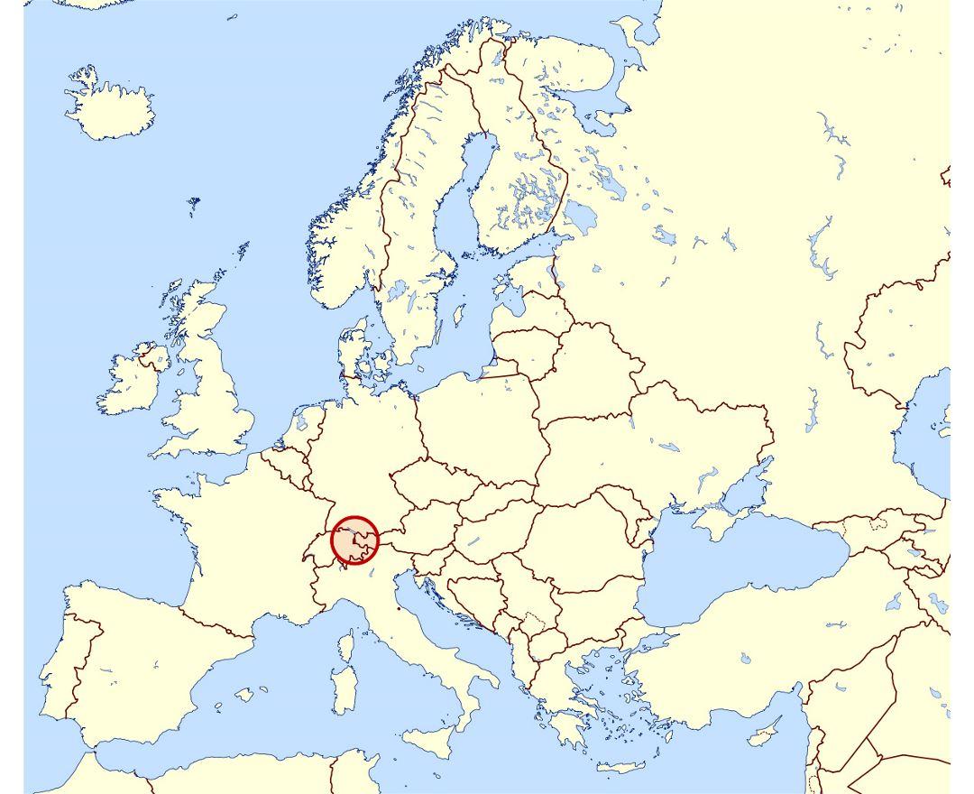 Maps of Liechtenstein | Collection of maps of Liechtenstein