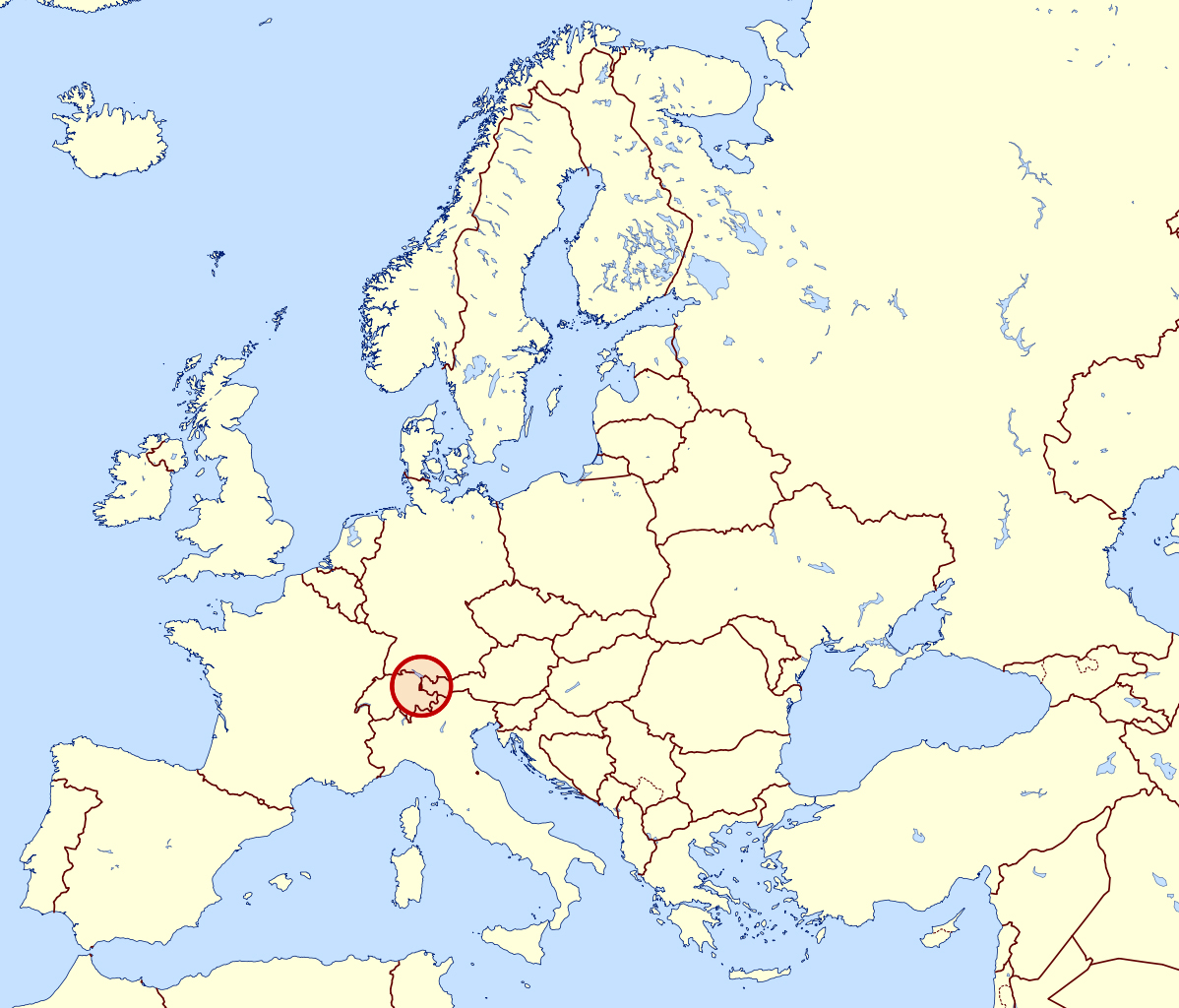 Large location map of Liechtenstein in Europe Liechtenstein