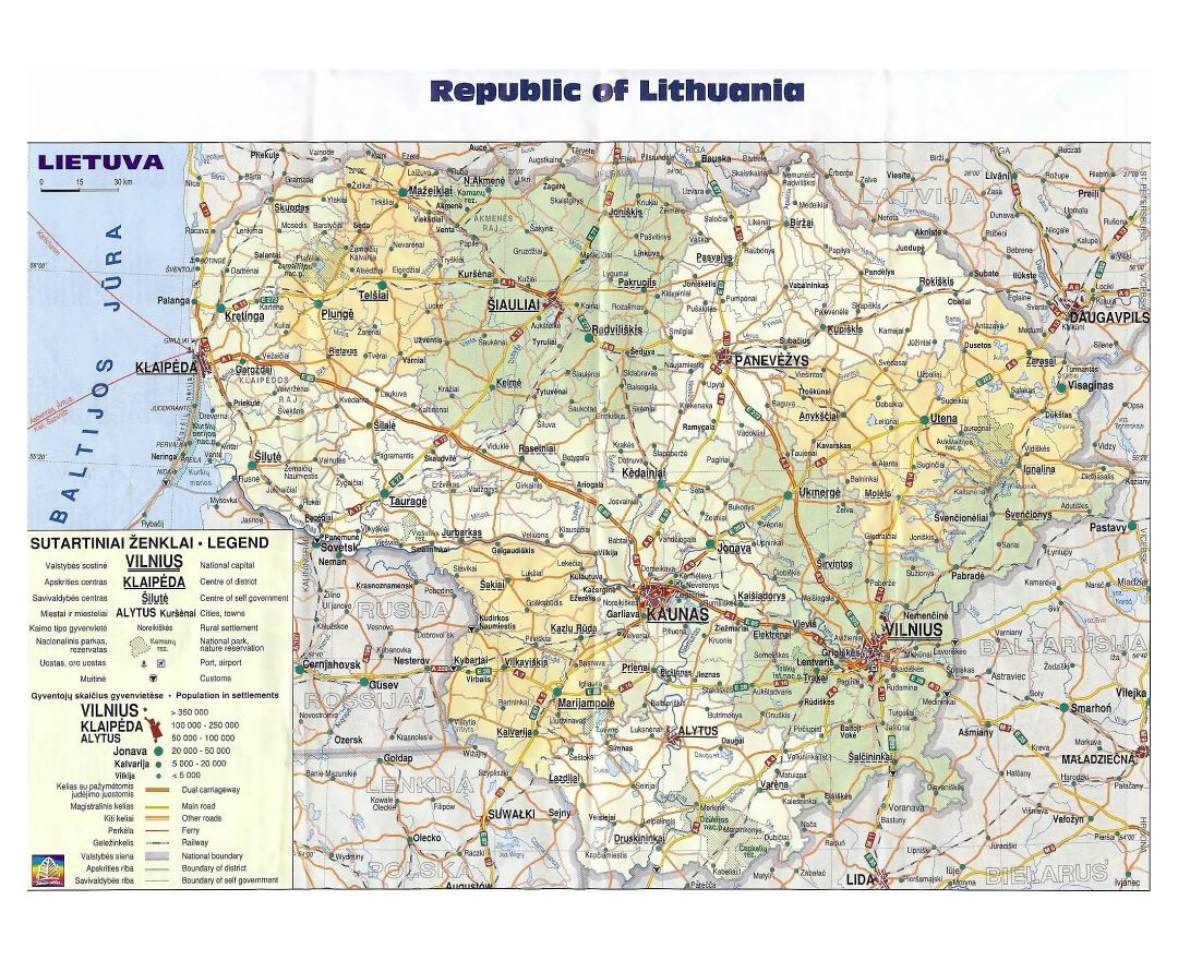 Maps of Lithuania | Collection of maps of Lithuania | Europe ...