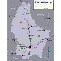 Large location map of Luxembourg | Luxembourg | Europe ...