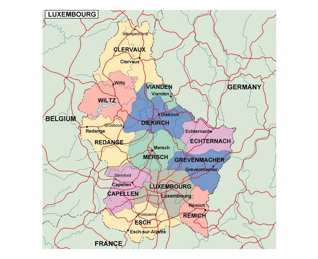 City map Luxembourg Admin
