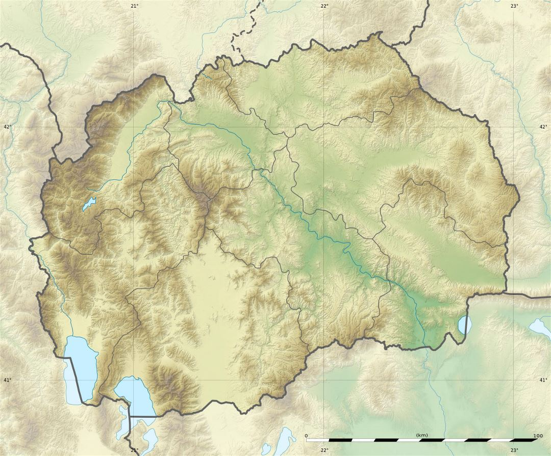 Large relief map of Macedonia
