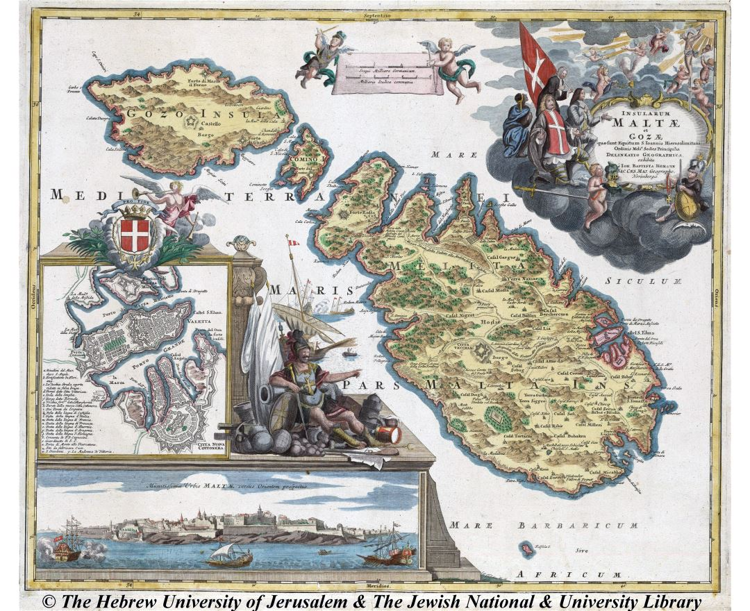 Maps of Malta Detailed map of Malta in English Tourist map map