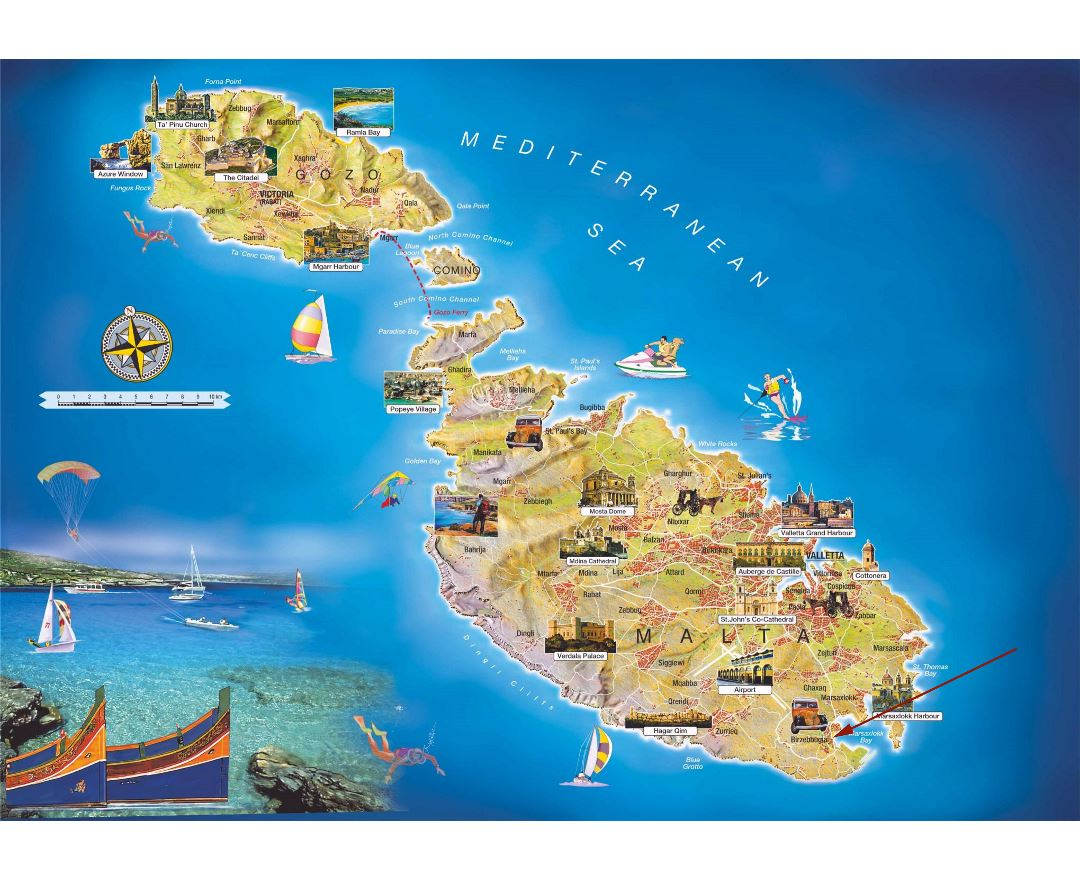 Picture of: Maps Of Malta Collection Of Maps Of Malta Europe Mapsland Maps Of The World