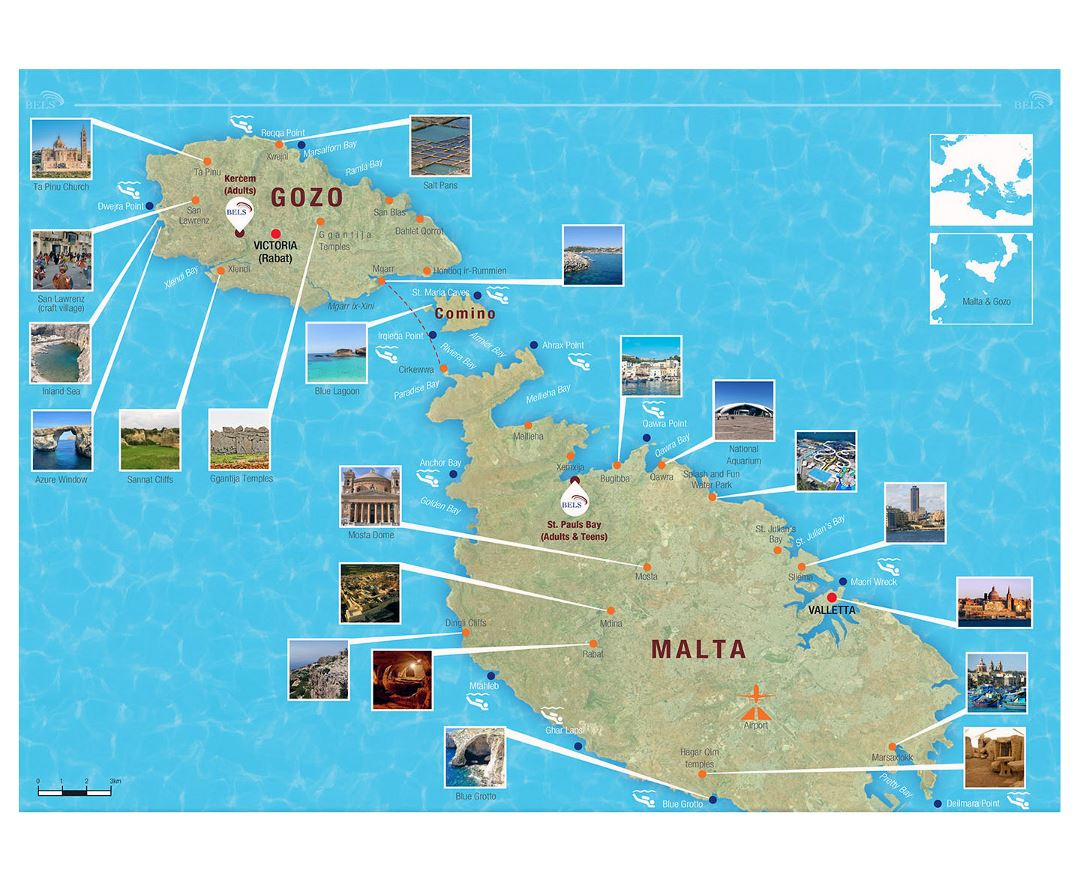 Maps Of Malta Collection Of Maps Of Malta Europe