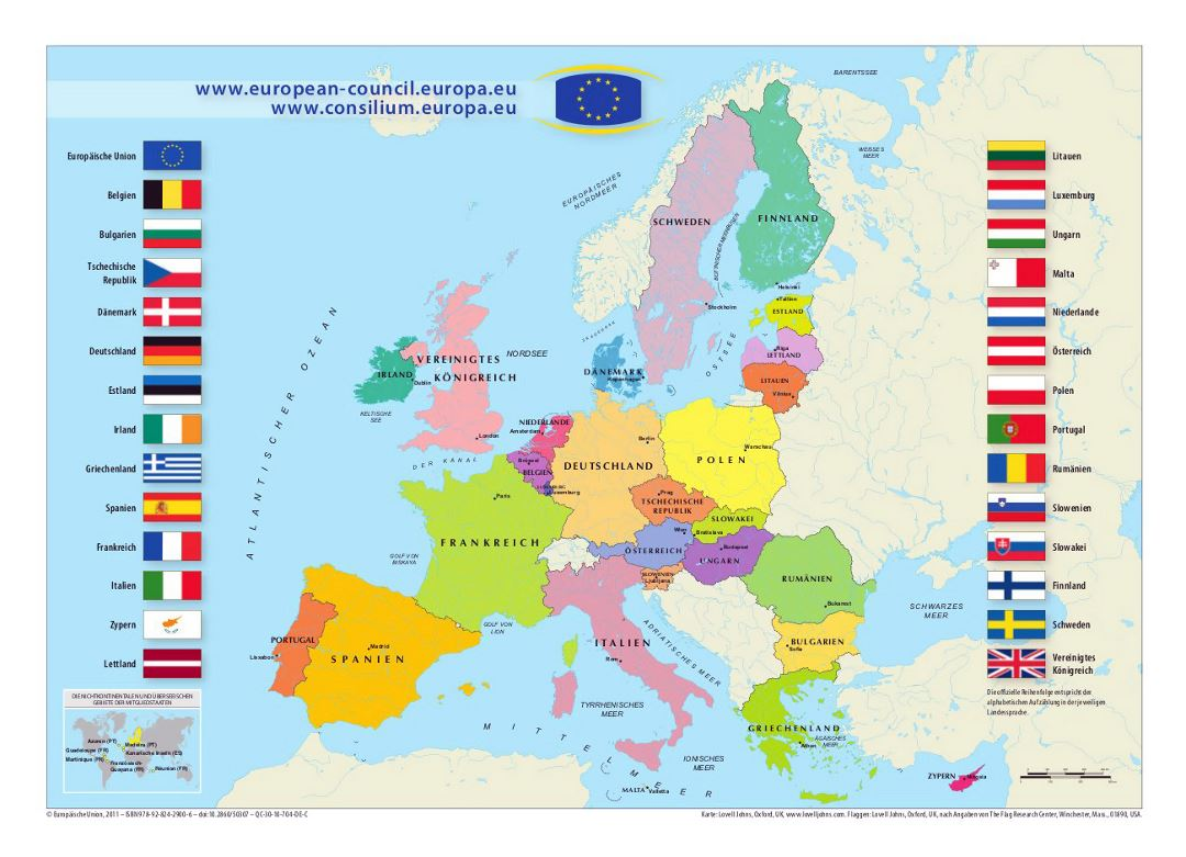 Map of European Union | Europe | Mapsland | Maps of the World