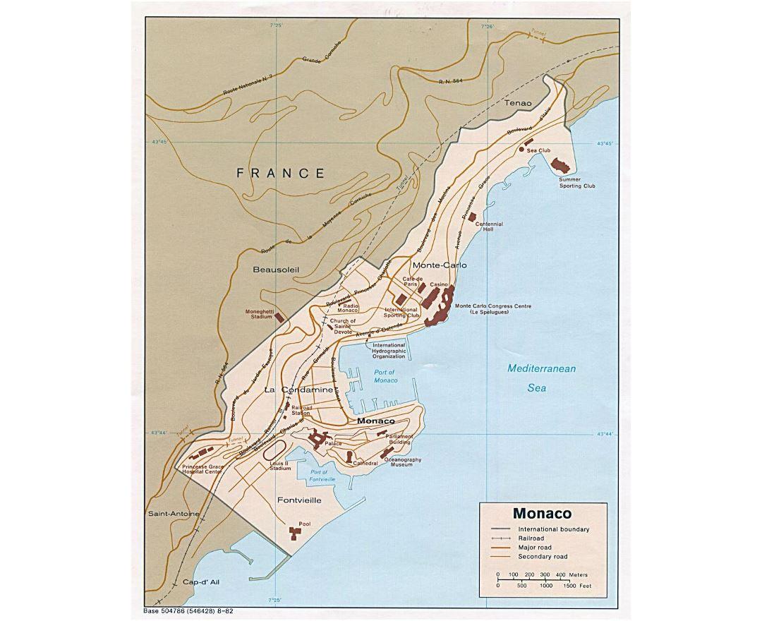 Maps Of Monaco Collection Of Maps Of Monaco Europe Mapsland