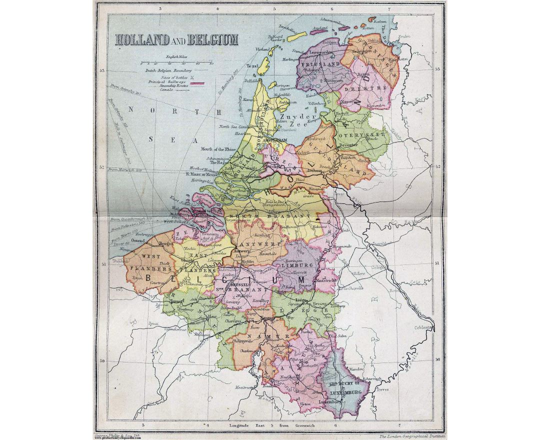 large detailed old political and administrative map of netherlands and belgium 1911