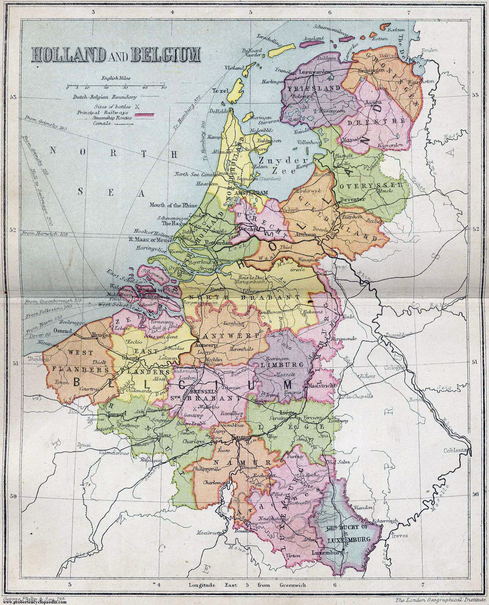 Large detailed old political and administrative map of Netherlands