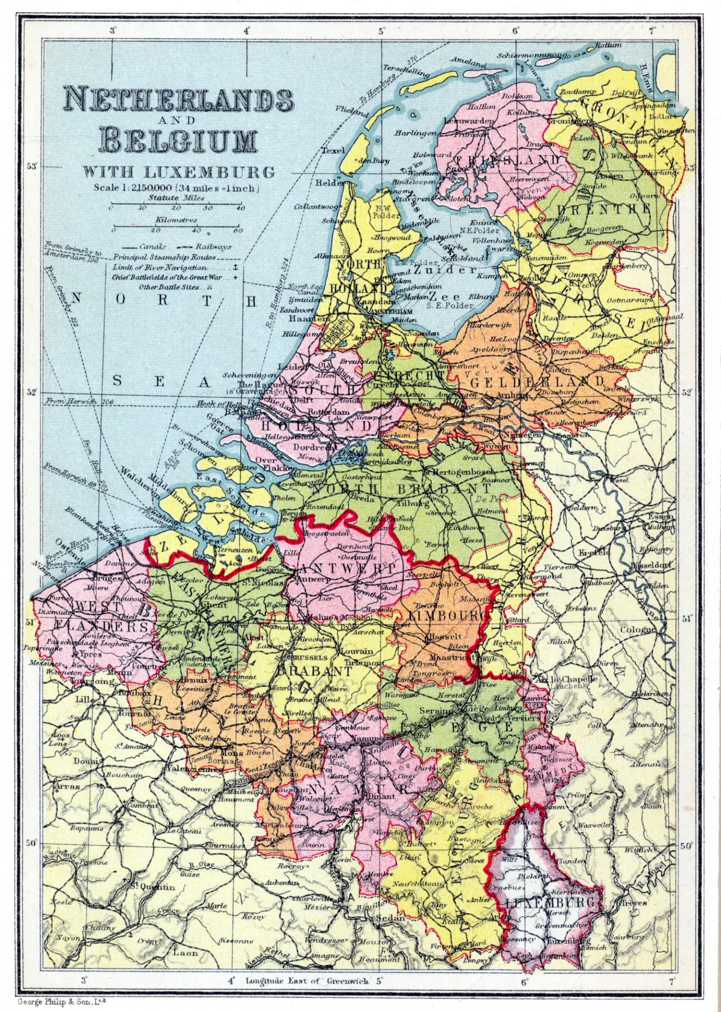 large detailed old political and administrative map of netherlands and belgium