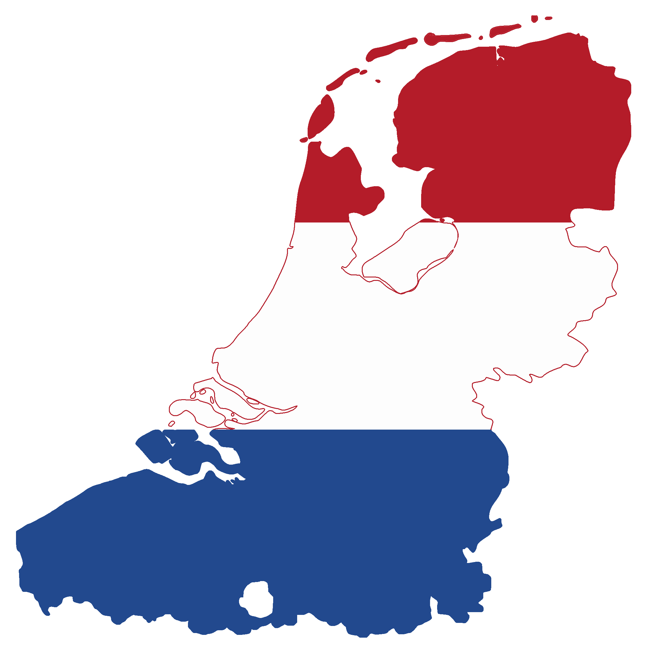 Large flag map of Netherlands | Netherlands | Europe ...