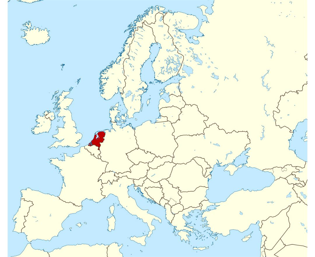 Maps of Netherlands Detailed map of Netherlands Holland in English Tour