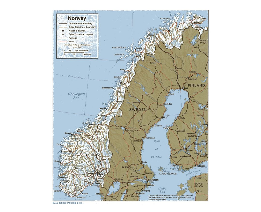 Maps Of Norway Detailed Map Of Norway In English Tourist Map - Norway map in english