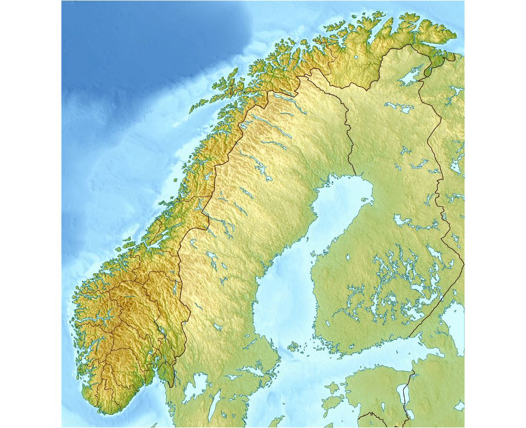 Maps of norway detailed map of norway in english tourist map detailed relief map of norway publicscrutiny Image collections