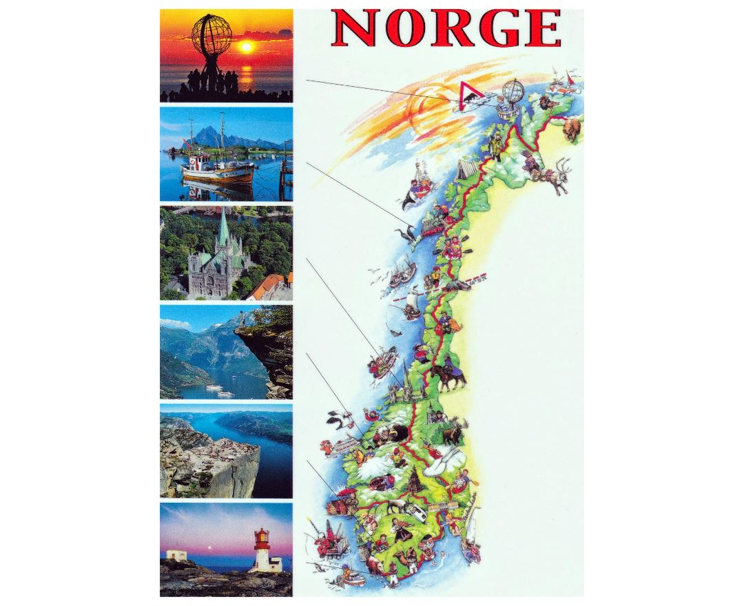 Large Paris Map Norway Road Map Map of England Tourist – Tourist Attractions Map In Norway