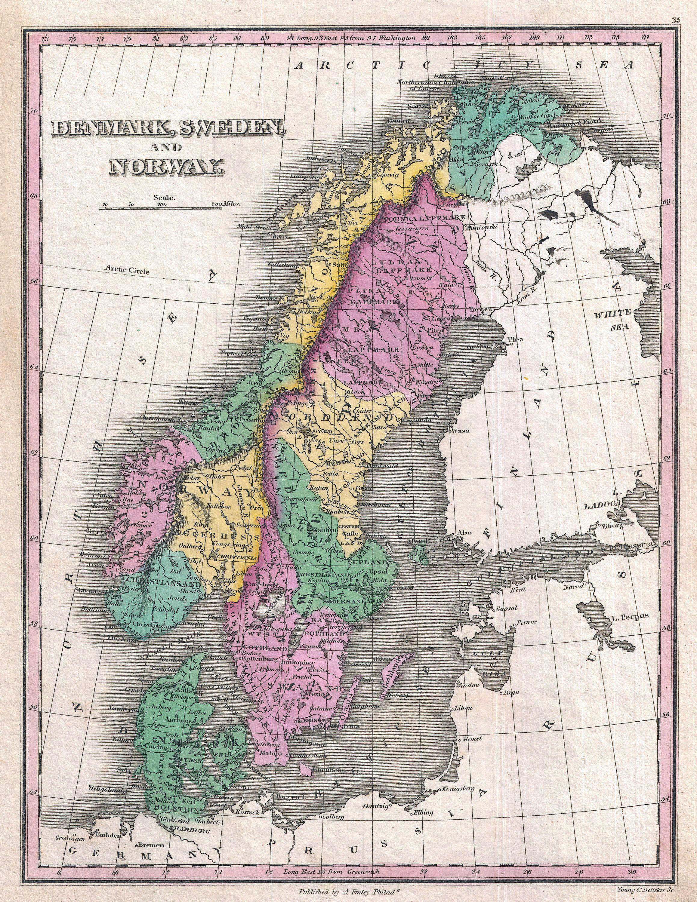 Large detailed old political and administrative map of denmark large detailed old political and administrative map of denmark sweden and norway 1827 gumiabroncs Gallery