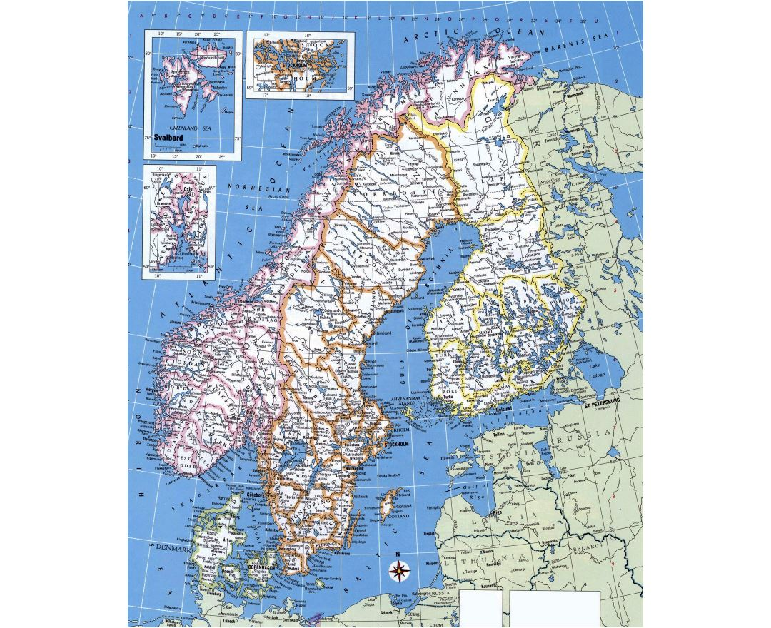 Maps Of Norway Detailed Map Of Norway In English Tourist Map - Norway map cities