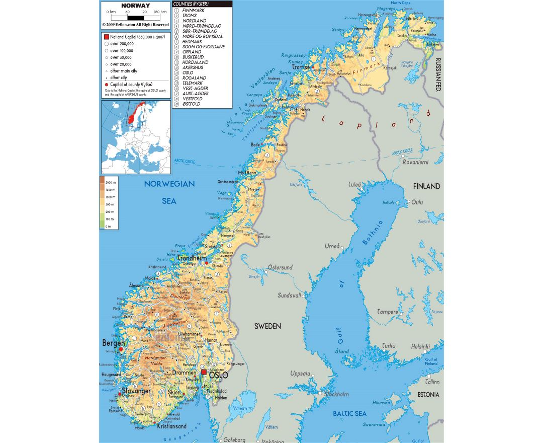 Maps Of Norway Detailed Map Of Norway In English Tourist Map - Norway map with airports