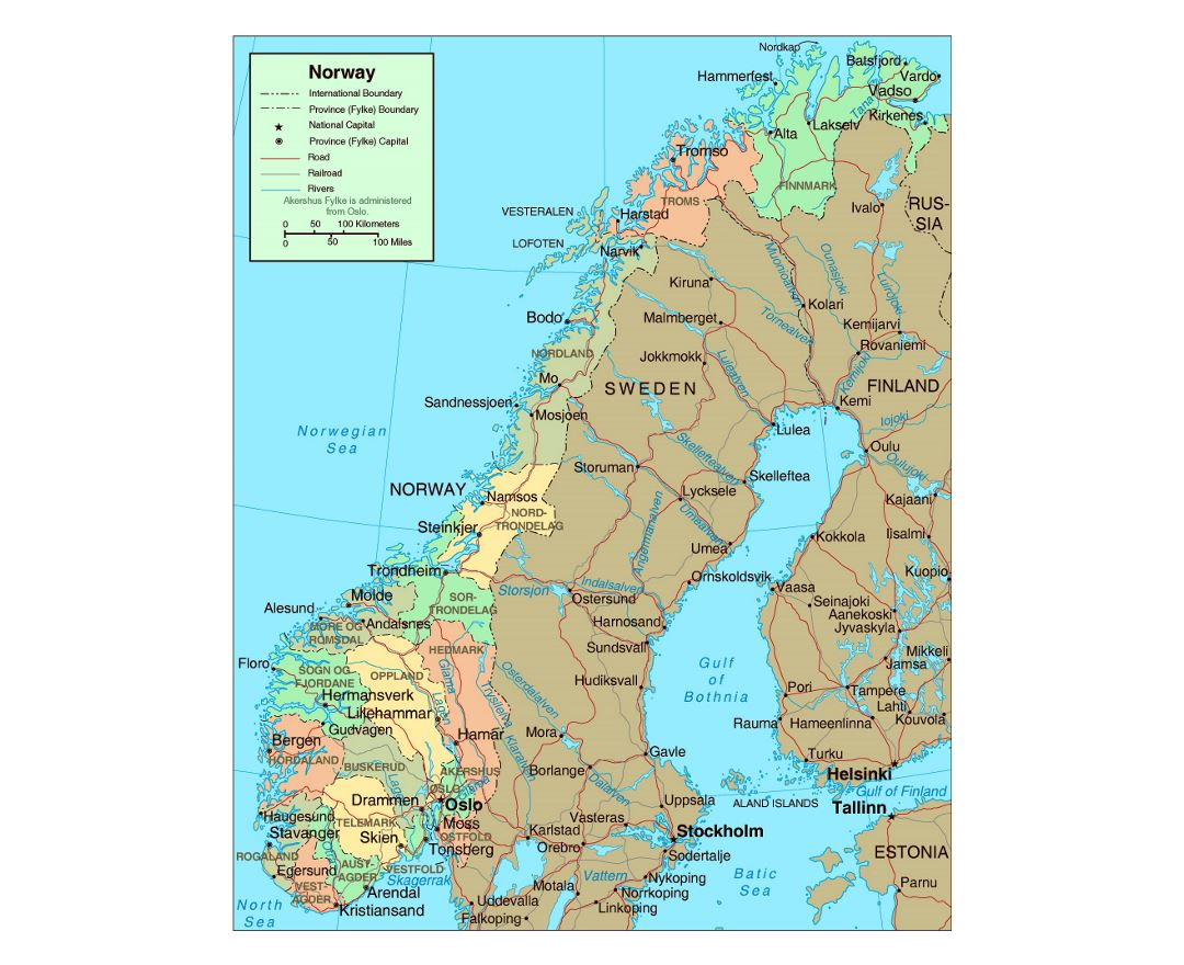 Maps Of Norway Detailed Map Of Norway In English Tourist Map - Norway map of