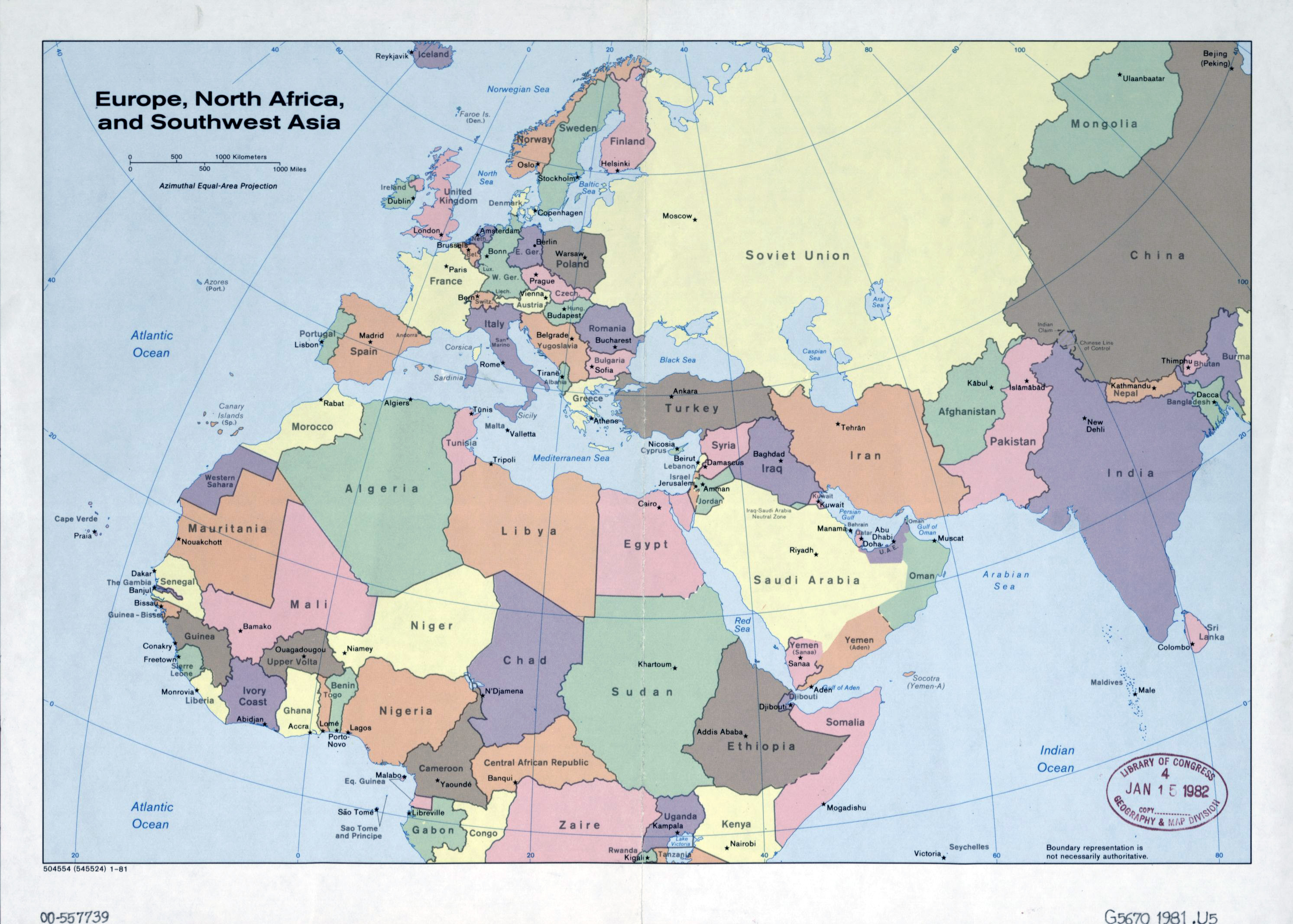 Large detailed old political map of Europe, North Africa and