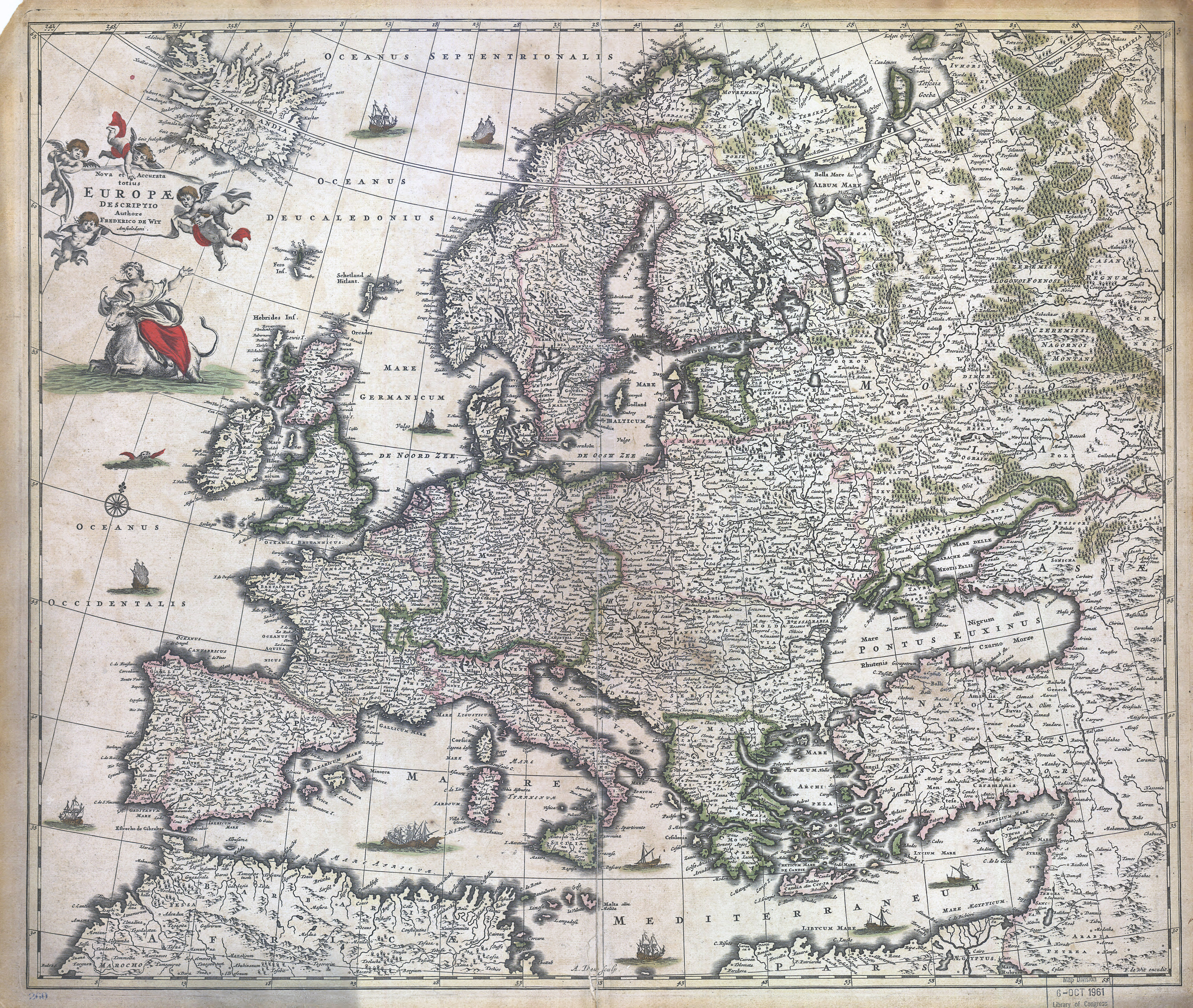 Large scale detailed old map of Europe - 1700 | Old maps of Europe ...