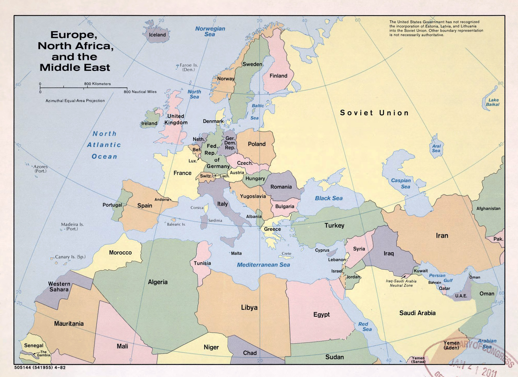 Large political map of Europe, North Africa and the Middle ...