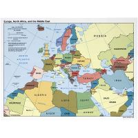 Large detailed political map of Europe, North Africa and ...