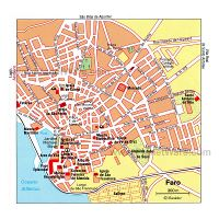 Large Scale Tourist Map Of Central Part Of Faro City Faro